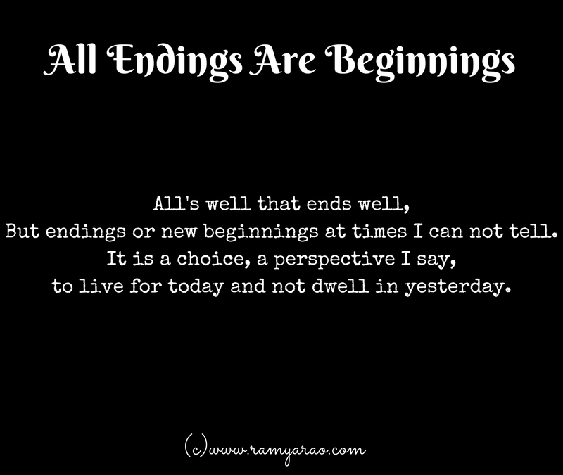 All Endings Are Beginnings